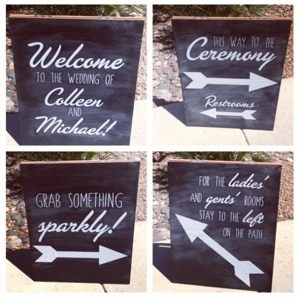 wedding fonts on chalkboard
