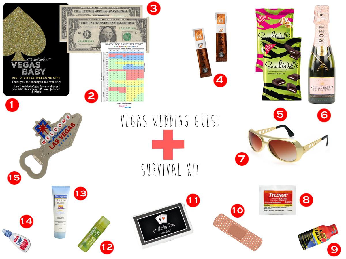 For The Guests Vegas Wedding Survival Kit 187 Little Vegas