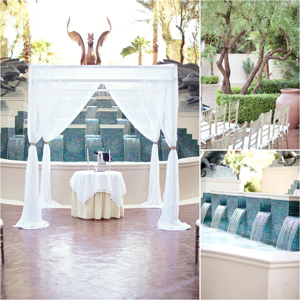 A Romantic Outdoor Wedding At Four Seasons Las Vegas Little