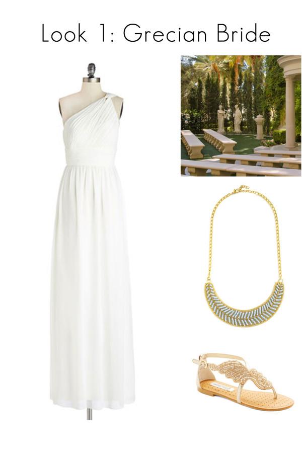 Vegas Wedding Style - Grecian Garden Bride