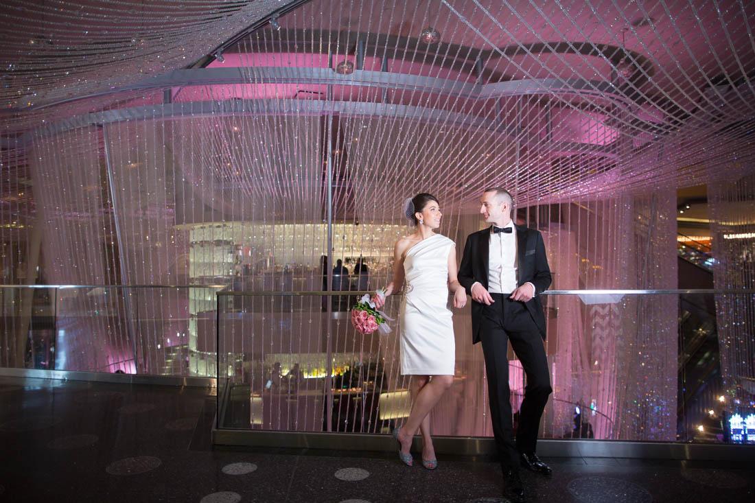 Midnight Wedding At Aria Little Vegas