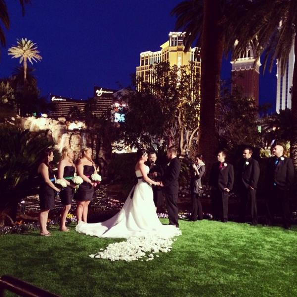 Mirage Volcano Wedding | Little Vegas Wedding