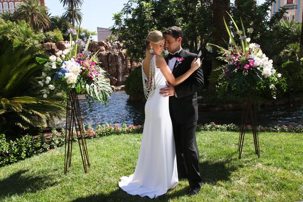 Mirage Daytime Volcano Wedding | Little Vegas Wedding