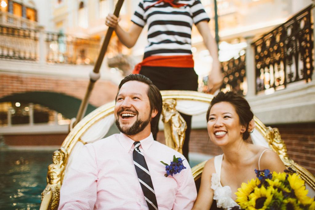 Venetian Gondola Elopement Little Vegas Wedding