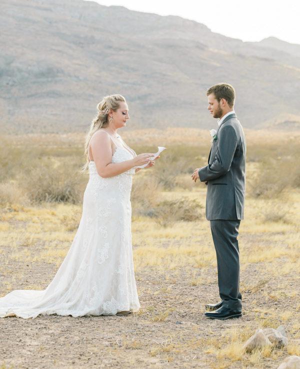 Dry Lake Bed Elopement | Little Vegas Wedding