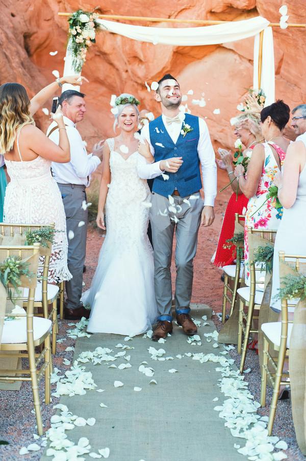 Modern Desert Elopement | Little Vegas Wedding