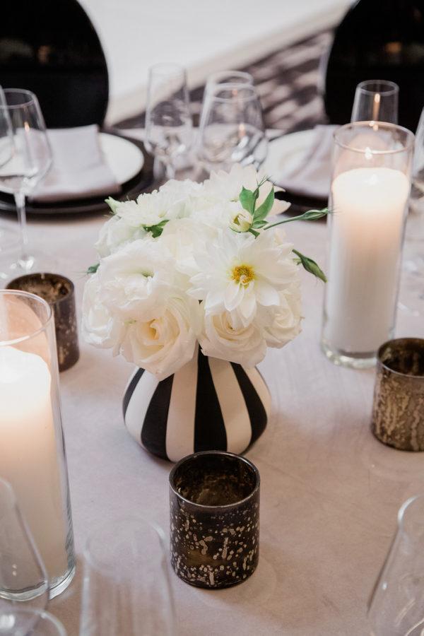Silver and Grey Modern Rooftop Wedding | Little Vegas Wedding