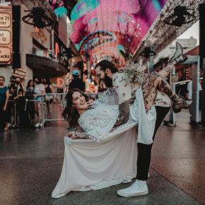 Rock n Roll Drive Thru Wedding | Little Vegas Wedding