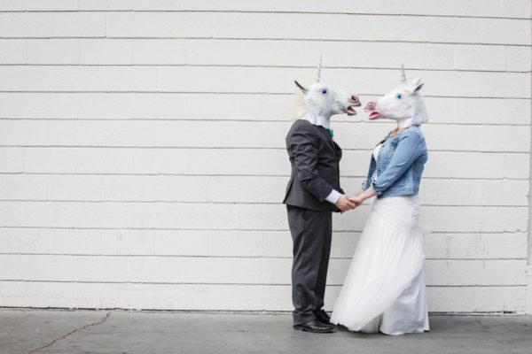 Unicorn Wedding at Neon Museum | Little Vegas Wedding