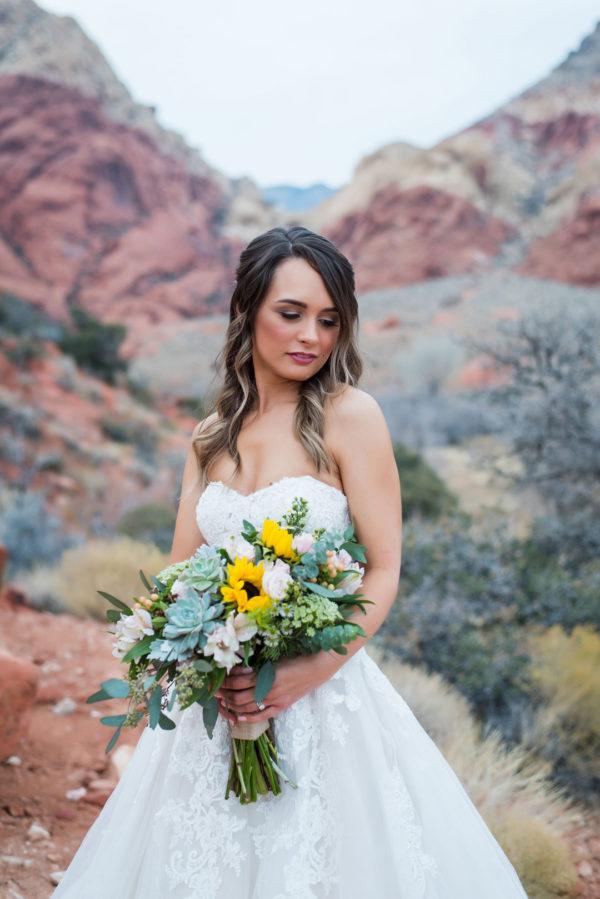 Cozy Winter Elopement at Red Rock Canyon   Little Vegas Wedding
