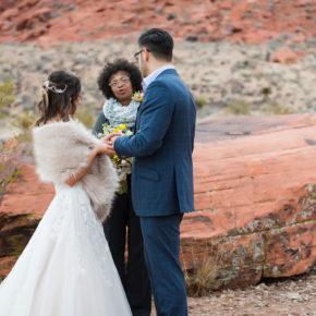 Cozy Winter Elopement at Red Rock Canyon | Little Vegas Wedding