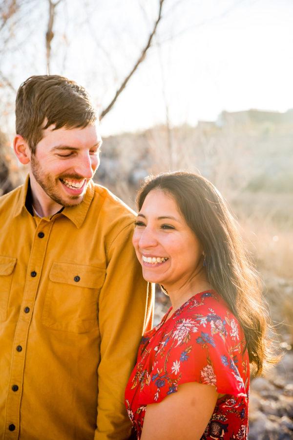 Natural Engagement Shoot   Little Vegas Wedding