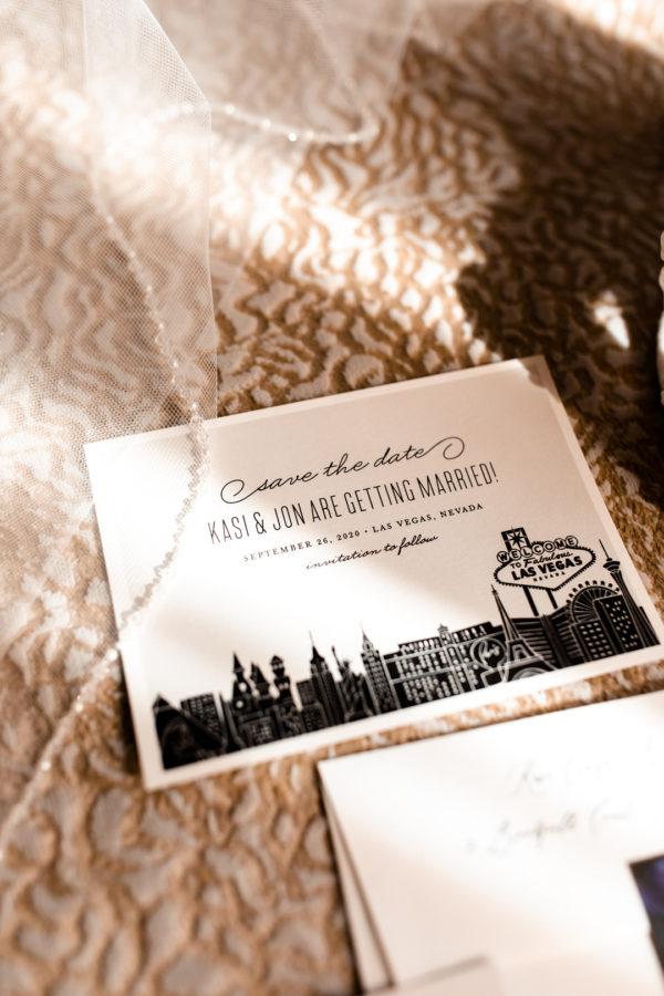 Vegas Wedding Invitation   Little Vegas Wedding